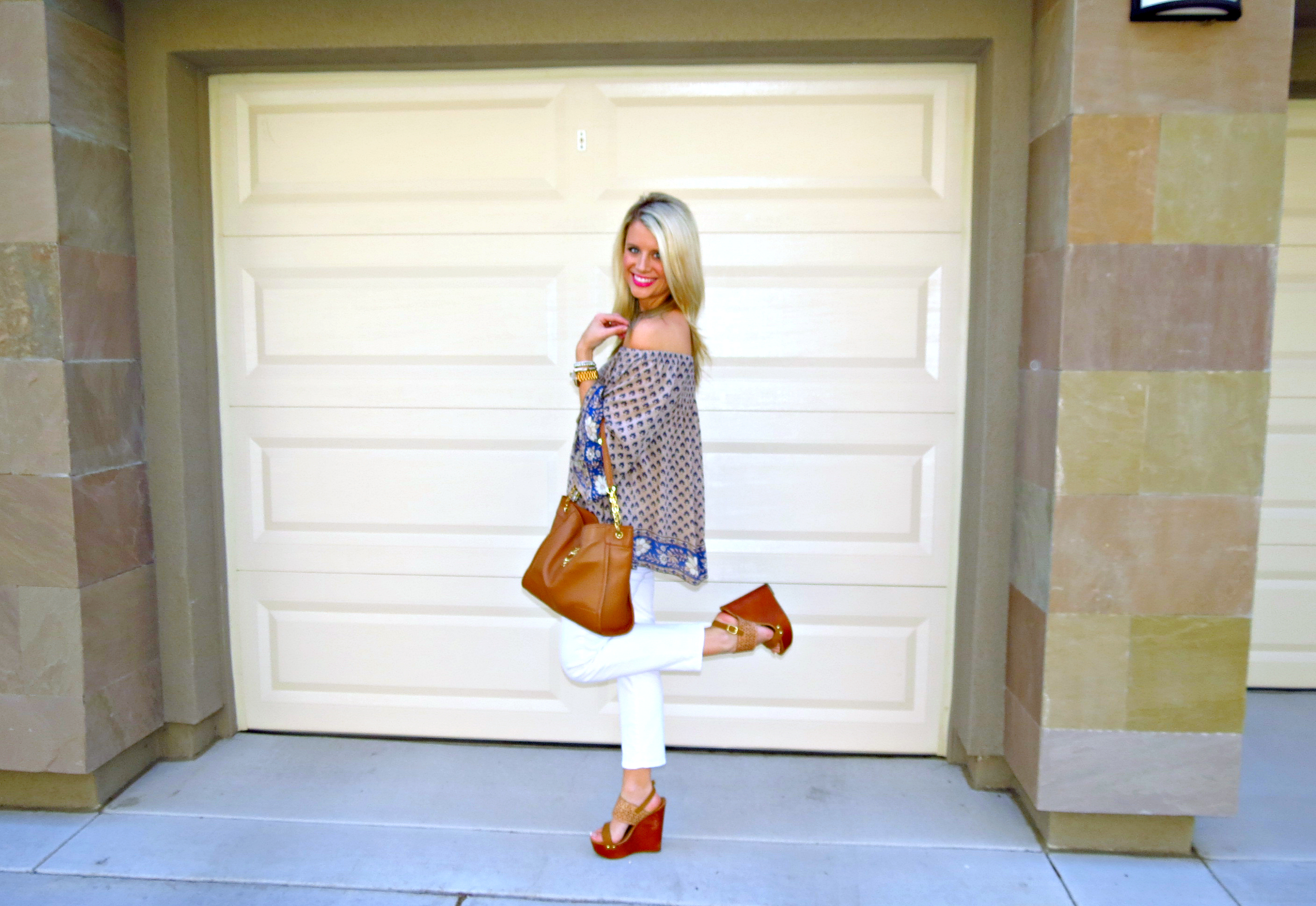Off the shoulder and bell sleeves, oh my!