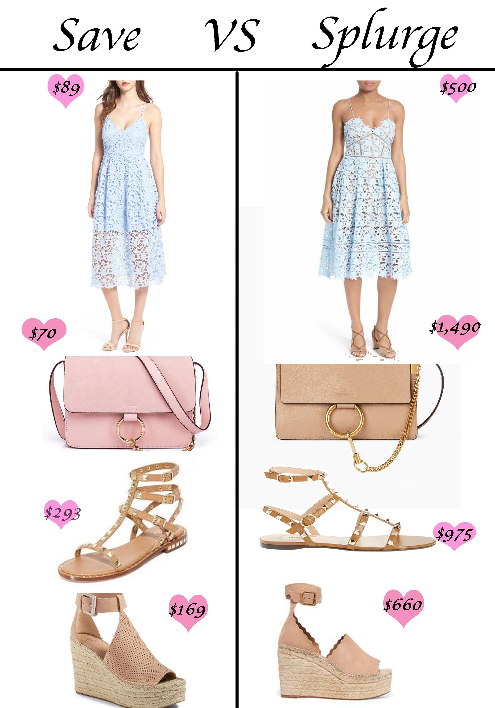 Save VS Splurge …. Designer Dupes
