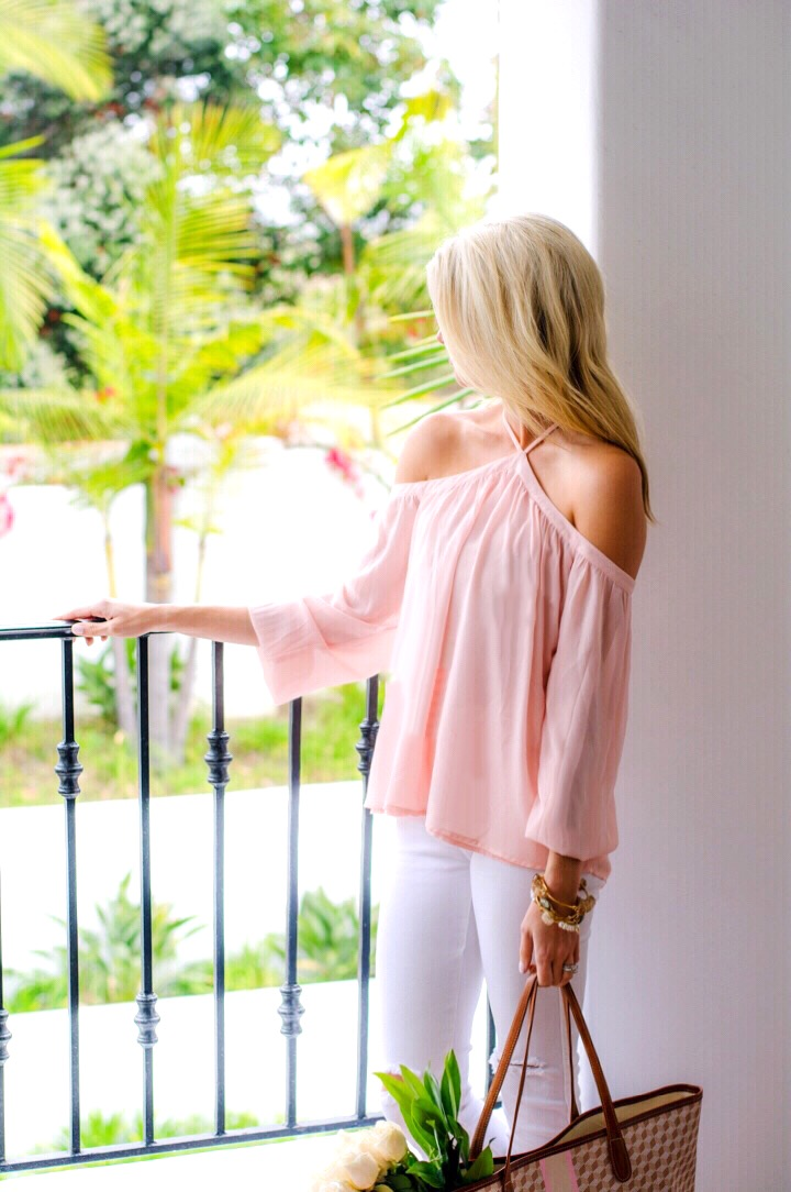 Light Pink Cold Shoulder